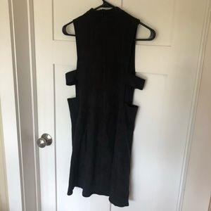 Wishlist mock neck cutout black dress